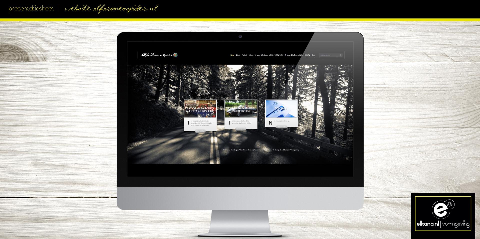 Website AlfaRomeoSpider.nl