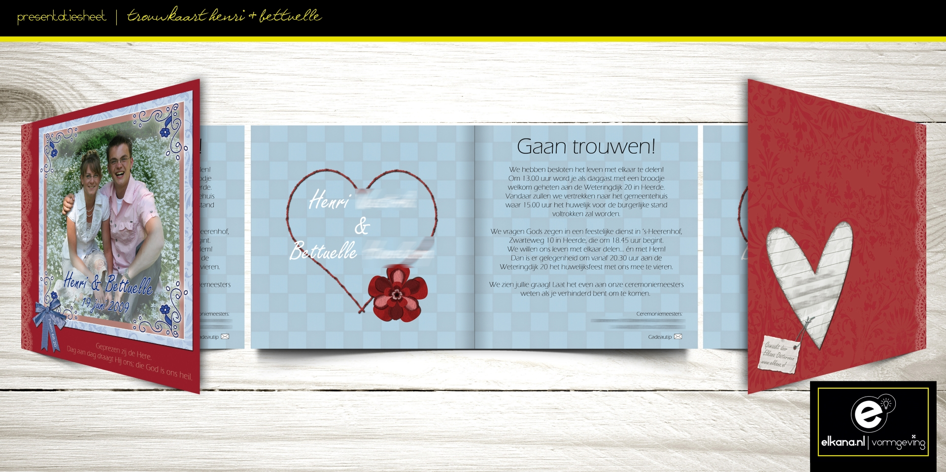 Trouwkaart H & B