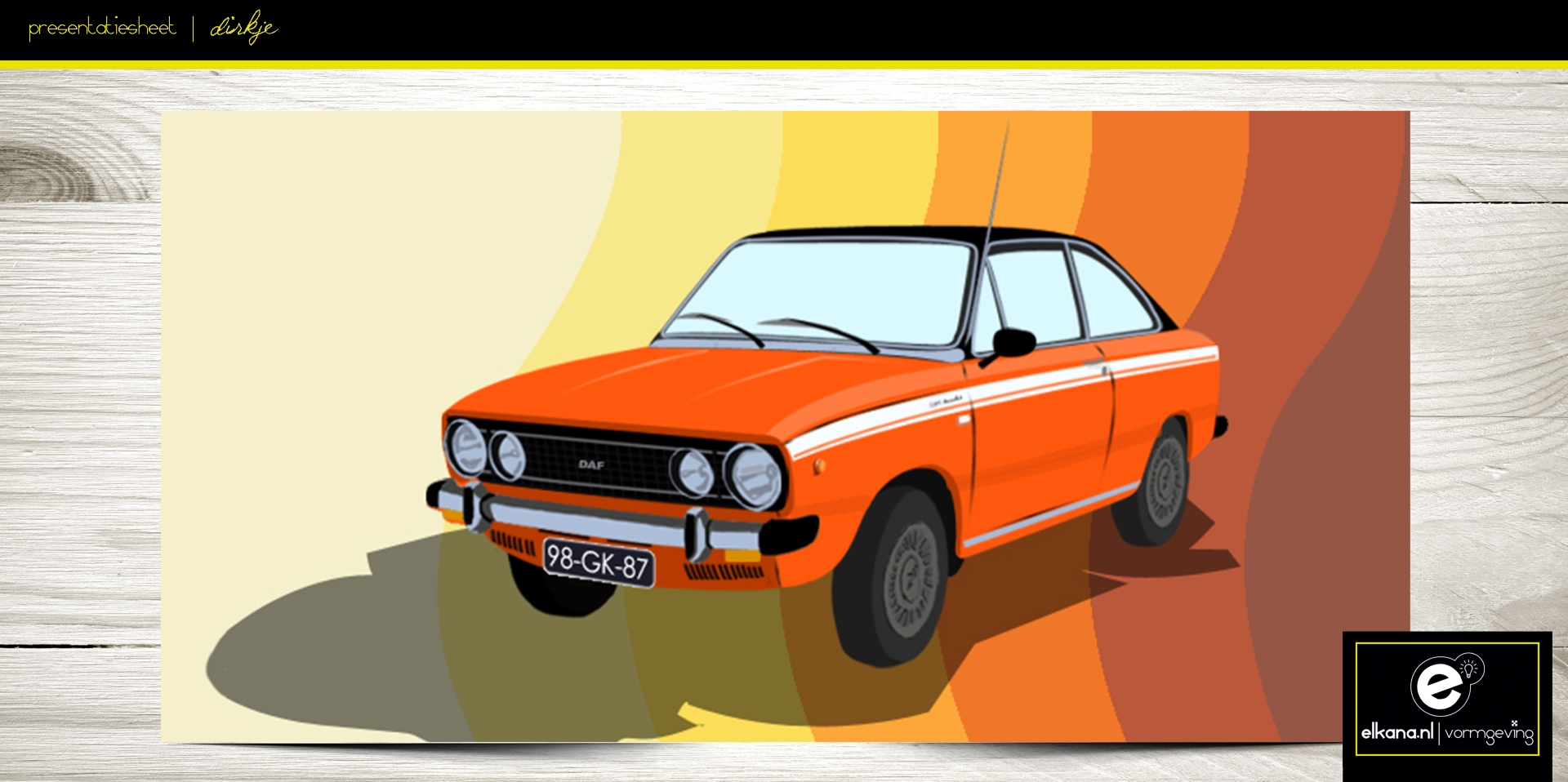 Daf Coupe in Photoshop