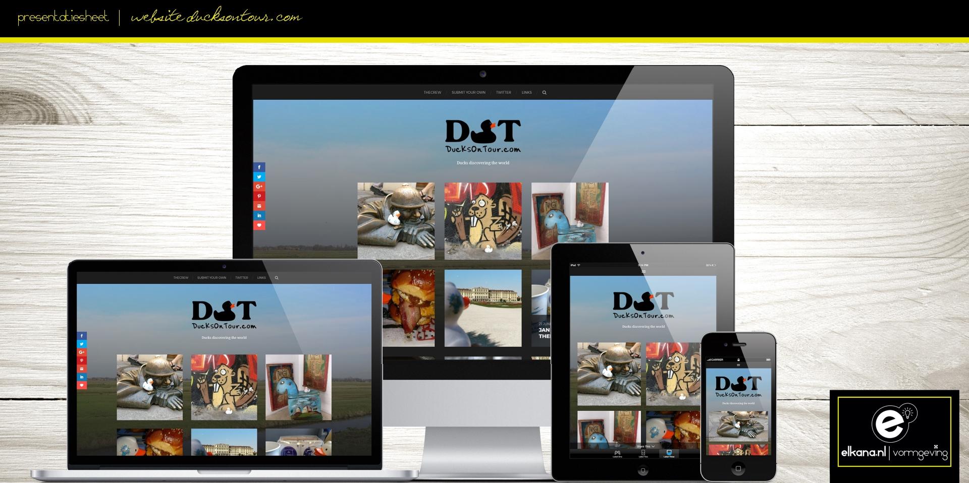 Website en logo DucksOnTour