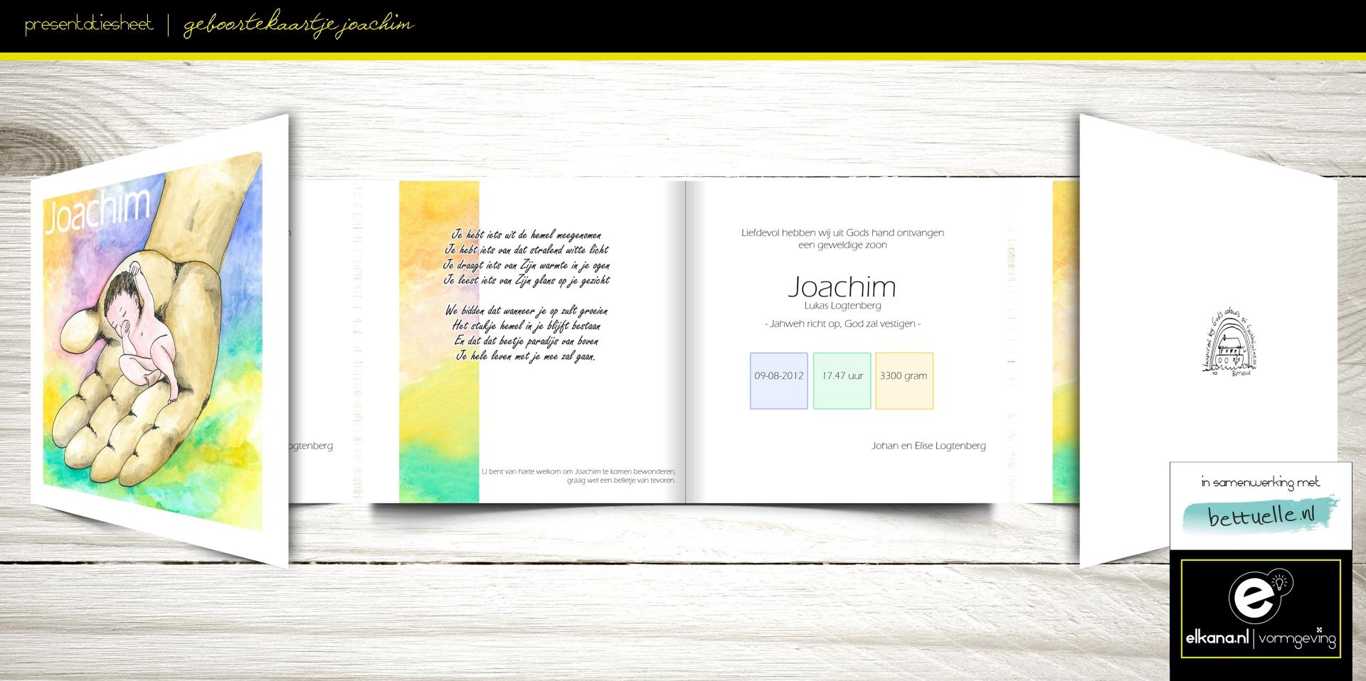 Geboortekaartje Joachim – Bettuelle