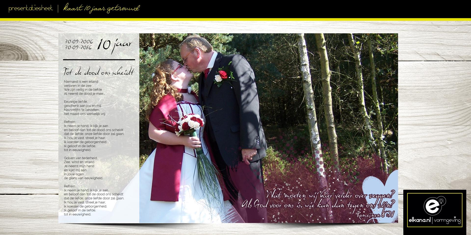 Kaart 10 jaar getrouwd