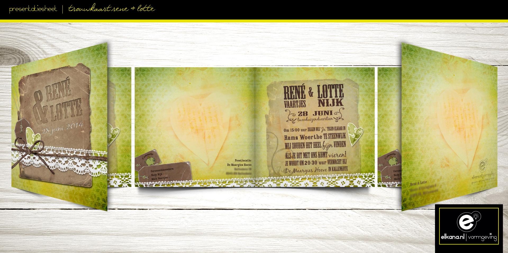 Trouwkaart Rene & Lotte
