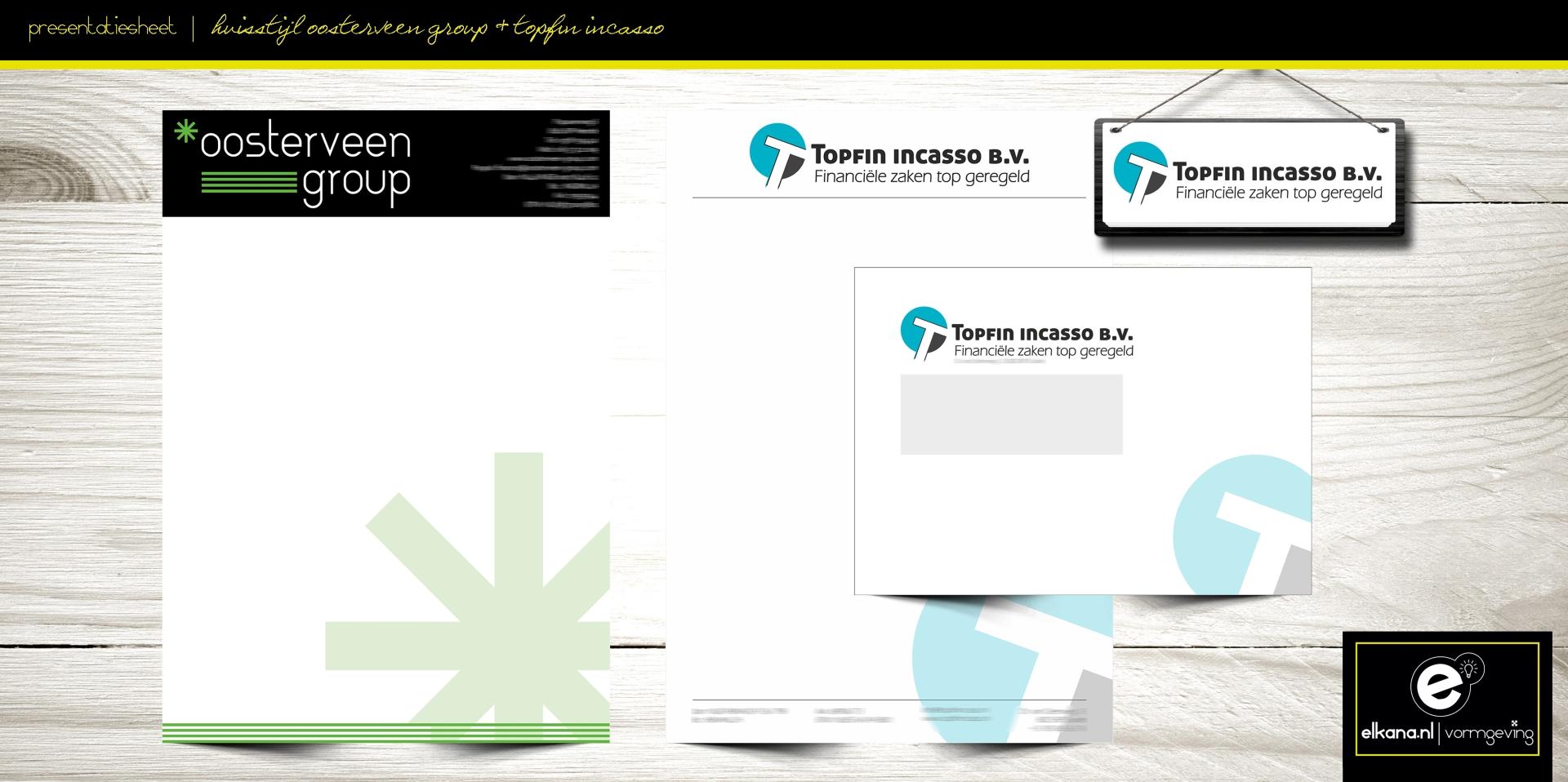 Huisstijl Oosterveen Group & Topfin Incasso