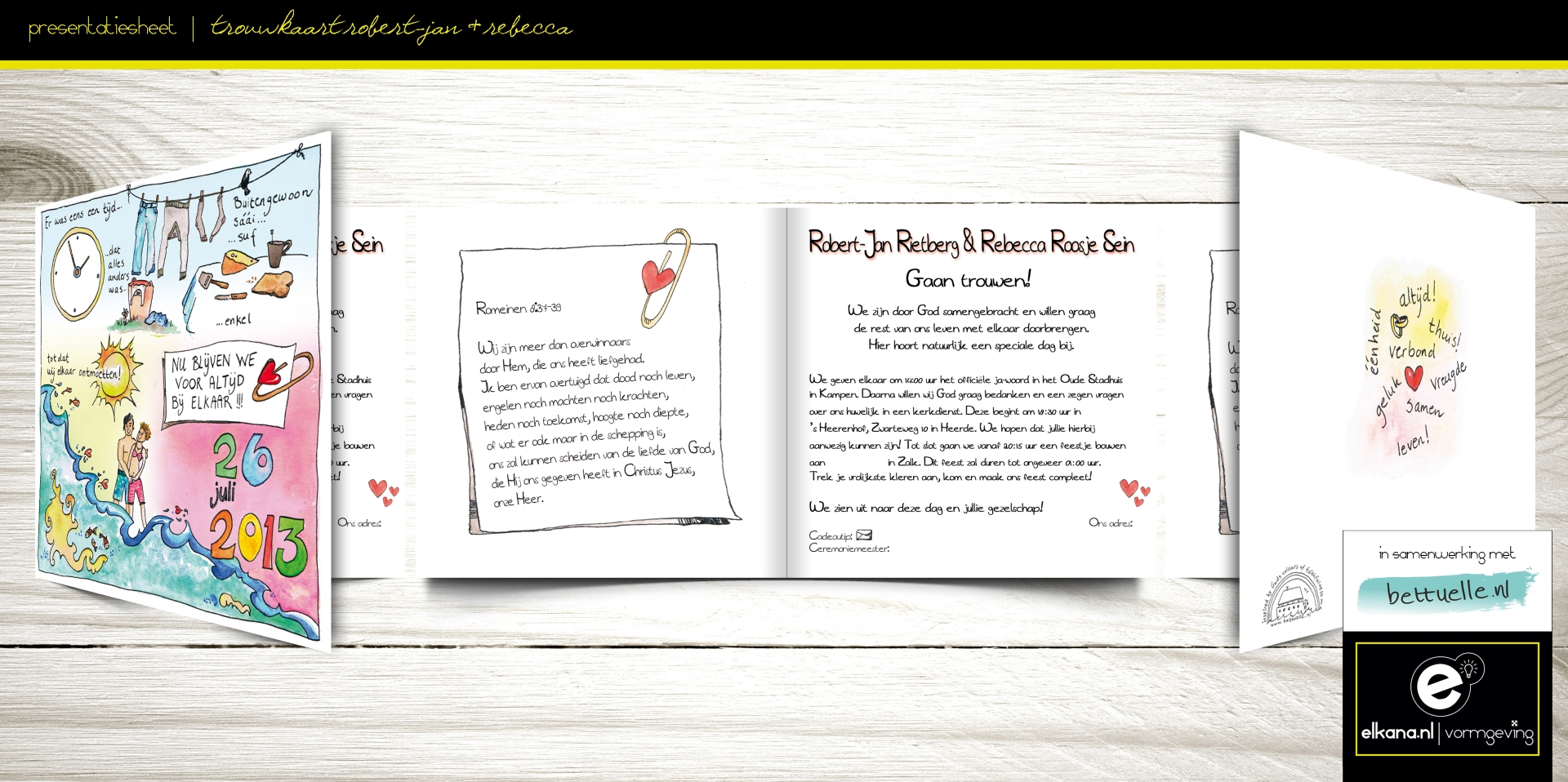 Trouwkaart Robert-Jan & Rebecca – Bettuelle