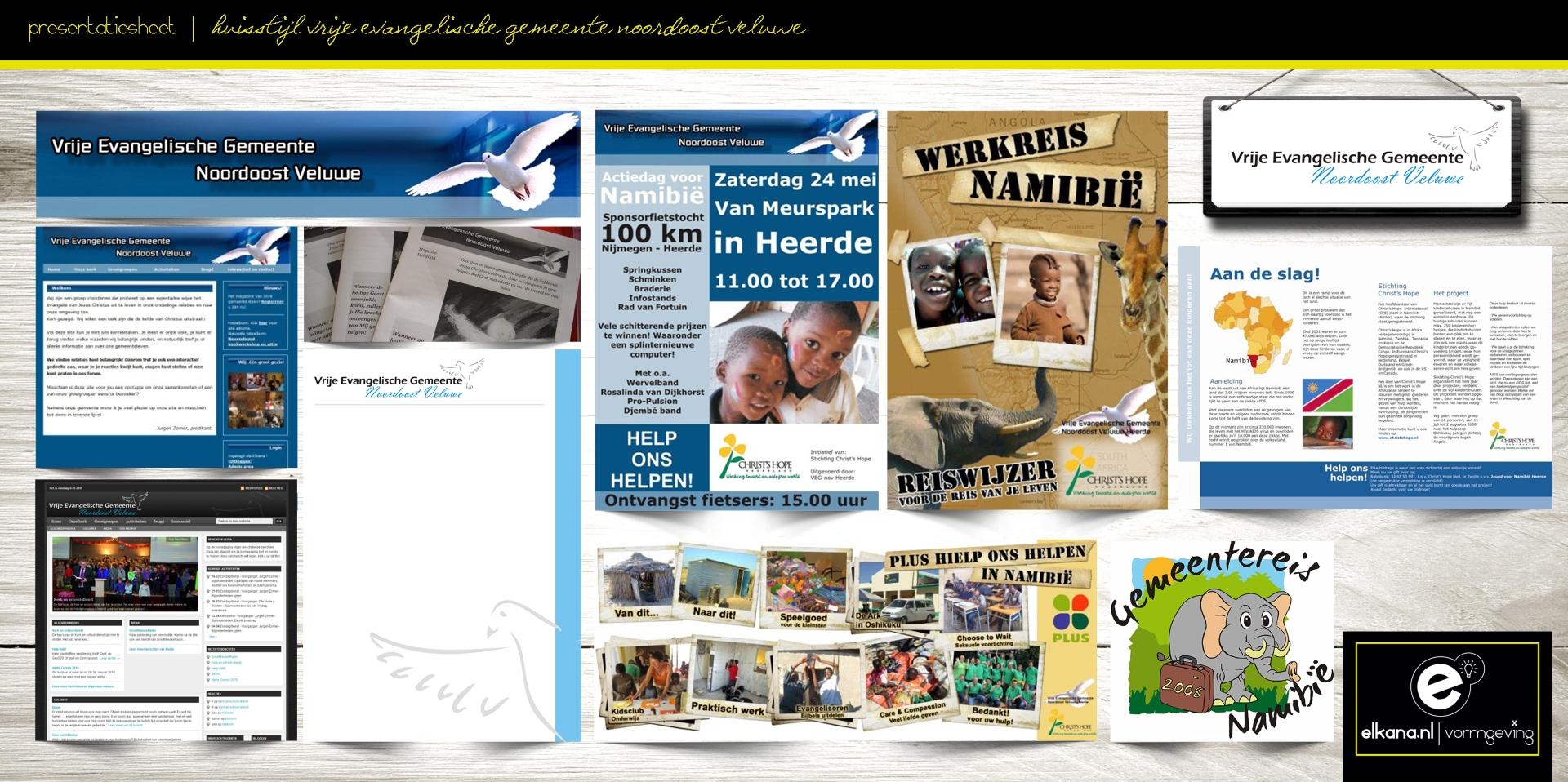 Huisstijl Vrije Evangelische Gemeente Noordoost Veluwe